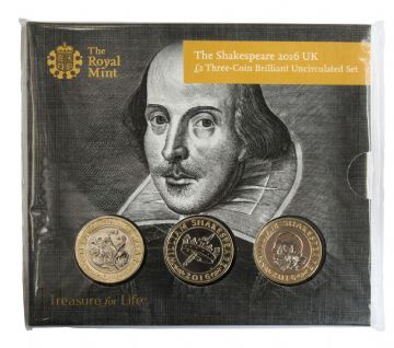 2016 3x£2 Skakespeare Brilliant Uncirculated pack